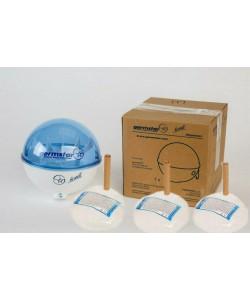 Бесконтактный дозатор Germstar (бело-синий) c Germstar Original дезинфицирующим средством для рук (емкостью 946 мл. - 3шт)