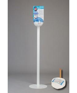 Бесконтактный Напольный дозатор Germstar (бело-синий) c Germstar Original дезинфицирующим средством для рук (емкостью 946 мл. - 1шт)