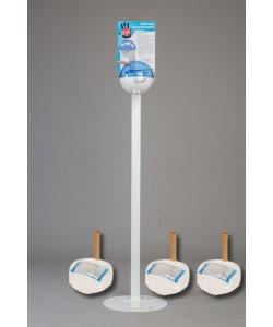Бесконтактный Напольный дозатор Germstar (бело-синий) c Germstar Original дезинфицирующим средством для рук (емкостью 946 мл. - 3шт)