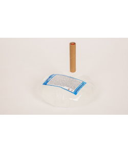 Бесконтактный Напольный дозатор Germstar (бело-синий) c Germstar Original дезинфицирующим средством для рук (емкостью 946 мл. - 5шт)