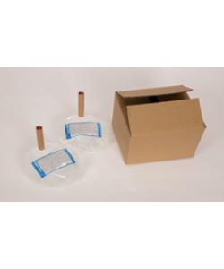 Бесконтактный Напольный дозатор Germstar (бело-синий) c Germstar Original дезинфицирующим средством для рук (емкостью 946 мл. - 4шт)