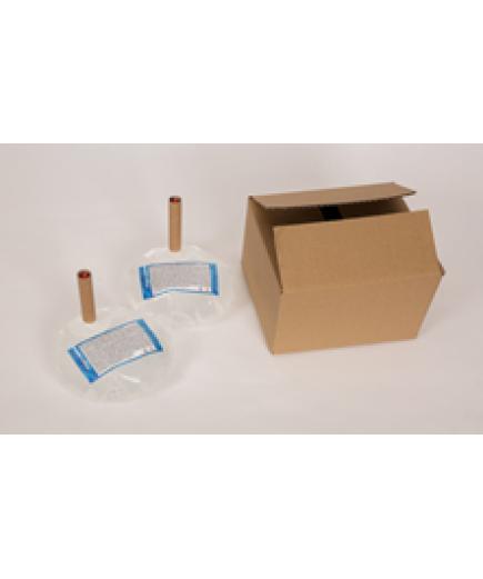 Бесконтактный дозатор Germstar (бело-синий) c Germstar Original дезинфицирующим средством для рук (емкостью 946 мл. - 5шт)
