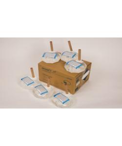 Бесконтактный Напольный дозатор Germstar (бело-синий) c Germstar Original дезинфицирующим средством для рук (емкостью 946 мл. - 6шт)